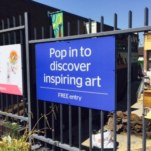 Signage: Pop in to discover inspiring art