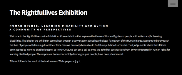 The Rightful Lives Exhibition Homepage