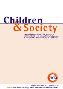 Children and Society front cover