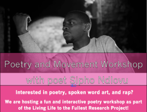 Poster of the poetry workshops