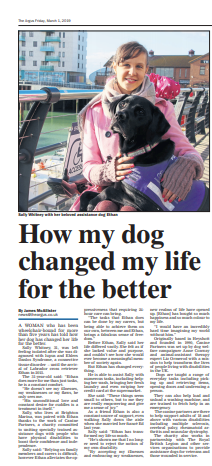 Sally's article in the Brighton Argus newspaper