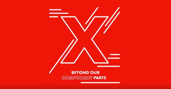 TedXNHS logo: Beyond Our Component Parts